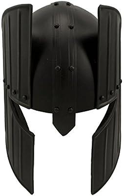 Red Deer Medieval Barbarian Style Helmet - Black