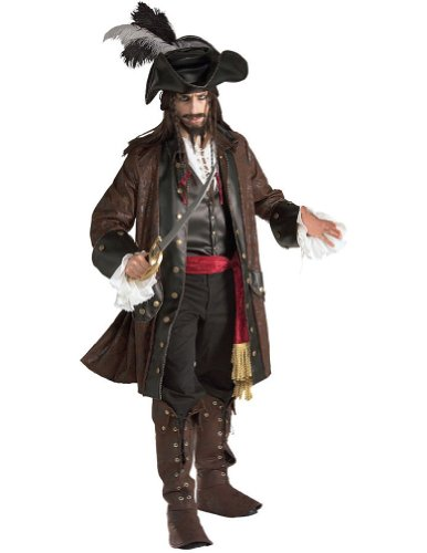 Adult-Costume Pirate Caribbean Halloween Costume - Most Adults