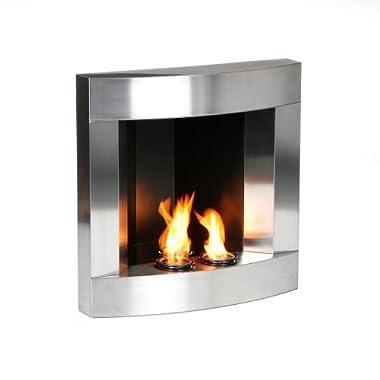 corner wall mount gel fuel fireplace stainless steel was