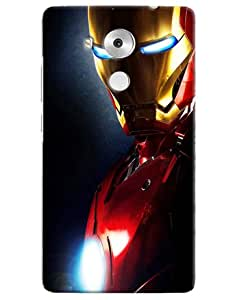 Omnam Iron Man Printed Designer Back Cover Case For Huawei Honor Mate 8