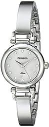 Armitron Women's 75/5269MPSV Swarovski Crystal Accented Silver-Tone Bangle Watch