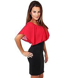 KRISP® Womens Chiffon Bodycon Pencil Wiggle Dress Oversized Officewear Spring Summer