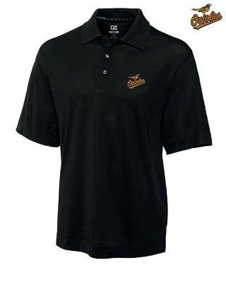 Baltimore Orioles Mens DryTec Championship Polo Shirt Black