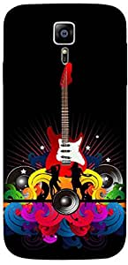 Timpax Light Weight One-piece construction Hard Back Case Cover Printed Design : Guitar and rainbow.Specifically Design For : Samsung Galaxy S6