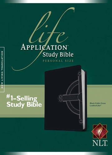 Life Application Study Bible: New Living Translation Black Celtic Cross TuTone LeatherLike Personal Size