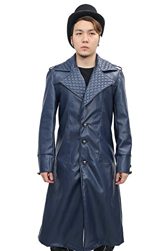 [Syndicate Jacob Frye Cosplay Costume Jacket Cloak Coat for Mens Halloween L] (Kid Sized Assassins Creed Costume)
