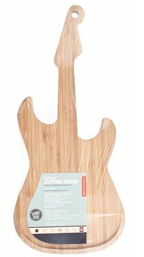 Win Kikkerland Bamboo Guitar Cutting Board dispense