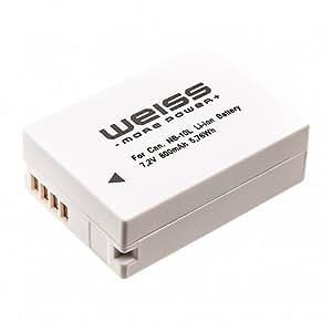 WEISS NB-10L 18315 Batterie pour Canon 800 mAh