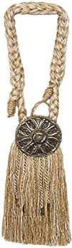 India House 76729 Tieback Medallion Tassel 9-Inch Beige Mix