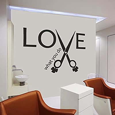 Inspirational Quote-Love What You Do-Beauty Salon Shop Wall Sticker Teen Room Decoration Hair Tool Decal Custom Art Poster