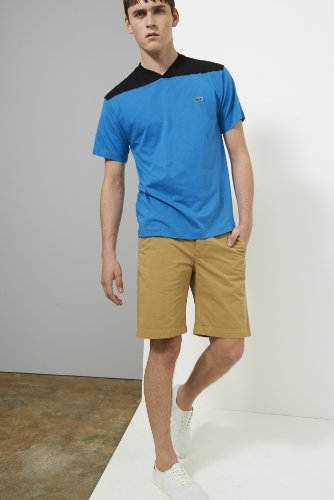 Live Cotton Twill Plain Front Bermuda Short