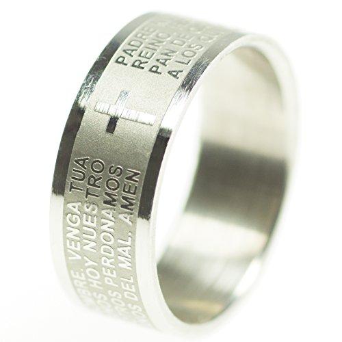anneaux-acier-inoxydable-avec-priere-bible-notre-pere-du-ciel