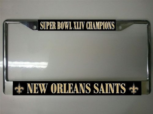 New Orleans Saints Championship License Plate Frame