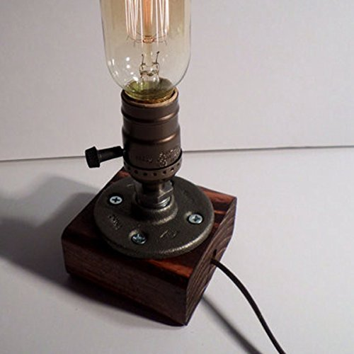 Loft Vintage T45 Edison Bulb Table Lamp Dimmable Water Pipe Light Home Bar Decor 1