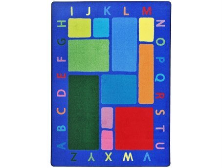 "Joy Carpets Kid Essentials Early Childhood Building Blocks Rug, Multicolored, 3'10"" x 5'4"" - 1"