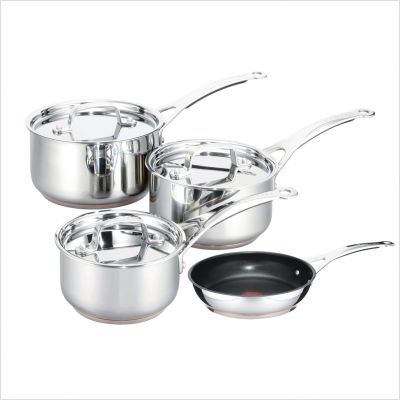 Tefal By Jamie Oliver Professional Series Stainless Steel Copper Heart Set
