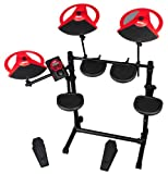 ddrum DD Beta Compact 5-Piece Electronic Drum Kit Bundle with Headphones Instrument Cable Drumsticks and Polishing Cloth