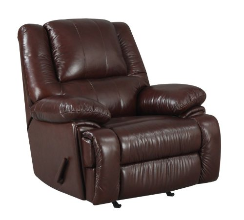 At Home Designs 2112 Camden Recliner Top Grain Leather With Vinyl Outside Back And Arms