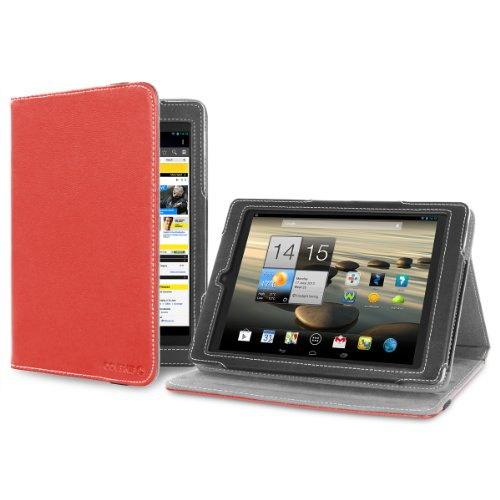 Cover-Up Version Stand Case Hülle Tasche Etui für Acer Iconia Tab A1-810 / A1-811 (7,9 zoll) Tablet Mit Standfunktion in Rot