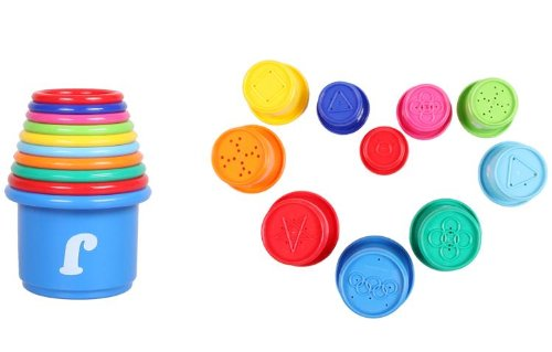 Big Mango Super Fun Educational Toys A Set Of 10 Pcs Colorful Stacking Cups For Baby With Numbers And Alphabets And Patterns Cute And Safe Learning Toy (Packed In Chinese) front-11904