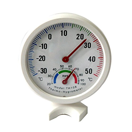 Thermometer Temperature Meter White Mini Indoor Outdoor Wet Hygrometer Humidity