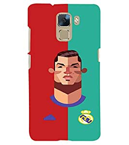 PRINTSHOPPII SPORTS FOOTBALL Back Case Cover for Huawei Honor 7