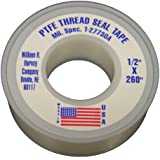 LASCO 11-1032 1/2-Inch by 260-Inch Double Density PTFE Thread Seal Tape, White
