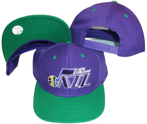 Best Discount New Orleans Jazz Purple Green Two Tone Snapback Adjustable  Plastic Snap Back Hat 503bd642a