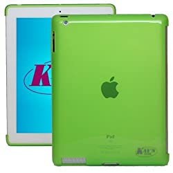 KaysCase Smart Solution Soft Gel Smart Cover Compatible Back Cover Case for Apple new iPad 3 iPad 4th Generation iPad 4 Retina Display (Green)