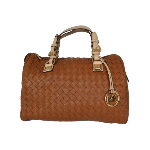 michael kors mocha brown leather woven rare md grayson satchel rh sites google com