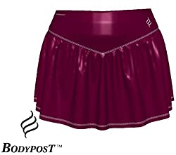 NWT Women's Fashion Sports Tennis Skirt at Body Post, Size: M, Color: Deep Red