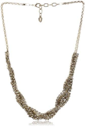 Leslie Danzis Gold-Tone Cubic Zirconium Braided Necklace, 20