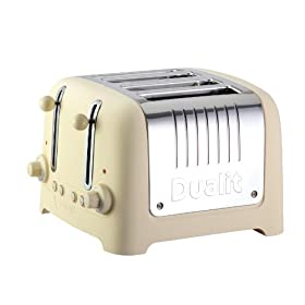 "Dualit Lite Traditional Design 46242 ""CHUNKY"" Toaster in Cream Soft Touch Finish"