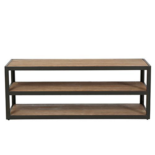 Lundin 3-Shelf Industrial Entertainment TV Console Stand with Shelf (Iron Tv Stand compare prices)