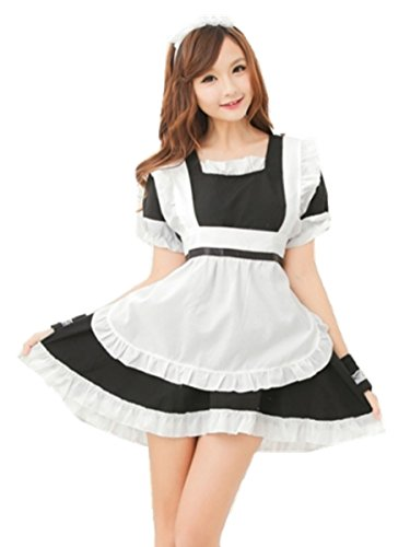 Easy French Maid Party Outfit Halloween Xmas Womens Fancy lolita Dress Costume
