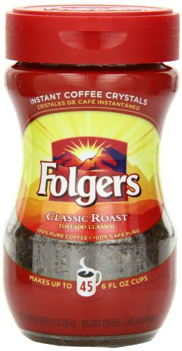 Folgers Classic Roast Instant Coffee, 3 Ounce (Instant Flavor Coffee compare prices)