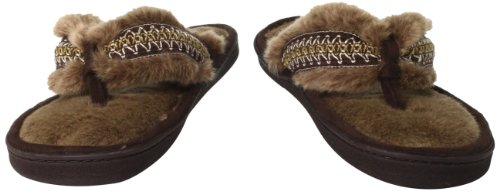 Cheap Isotoner Women's Fur Thong Slipper (B007ZNFC4O)