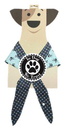 In Dog We Trust Pirateboy Bandana, Medium, Blue