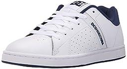 DC Men\'s Wage 2 Skate Shoe, White/Navy, 9 M US