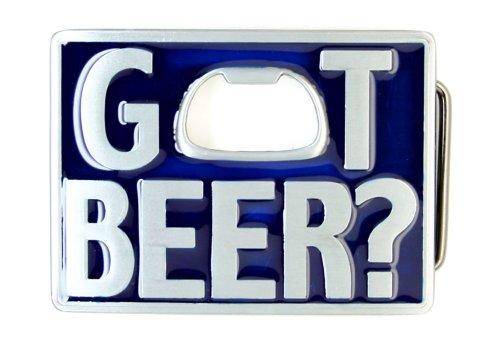 Blue Got Beer Bottle Opener Belt Buckle