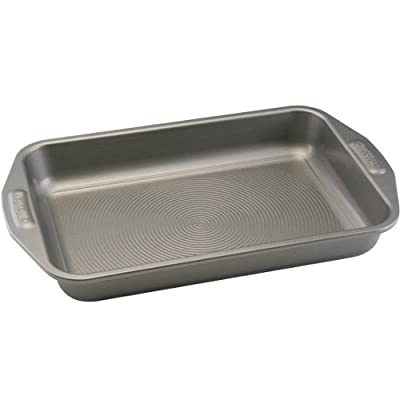 Circulon Nonstick Bakeware 9-Inch x 13-Inch Cake Pan, Gray