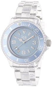 ICE-Watch - Montre Mixte - Quartz Analogique - Ice-Pure - Blue - Small - Cadran Bleu - Bracelet Plastique Transparent - PU.BE.S.P.12