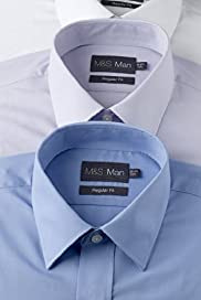 3 Pack Easycare Classic Collar Assorted Shirts