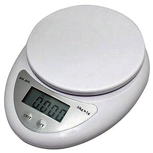 LUPO Precision Digital Kitchen Scales (1g - 5kg) - WHITE