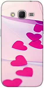 Snoogg Red Drop Heart Hard Back Case Cover Shield For Samsung Galaxy Grand Prime