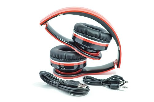 Geardo Wireless Bluetooth Foldable Adjustable Stereo Headphone Earphone- Black