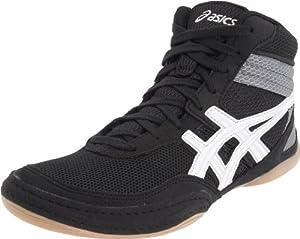 ASICS Men's Matflex 3 Wrestling Shoe,Black/White,10 M US