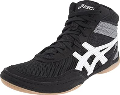 ASICS Men's Matflex 3 Wrestling Shoe,Black/White,10.5 M US