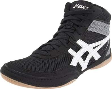 ASICS Men's Matflex 3 Wrestling Shoe,Black/White,8.5 M US