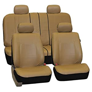 FH-PU005114 Exquisite Leather Car Seat Covers, Airbag compatible and Rear Split from FH